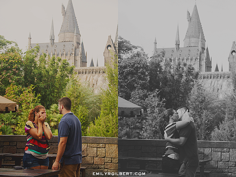 Wizarding World Of Harry Potter Proposal Photographer Hogsmeade And Diagon Alley Engagement Photography Emilyrgilbert