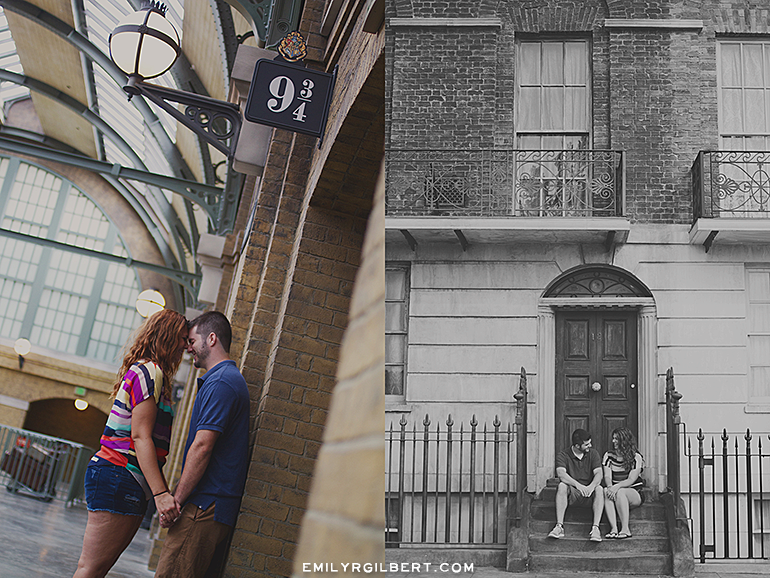 wizarding world of harry potter proposal photographer - hogsmeade and diagon alley engagement photography - emilyrgilbert.com