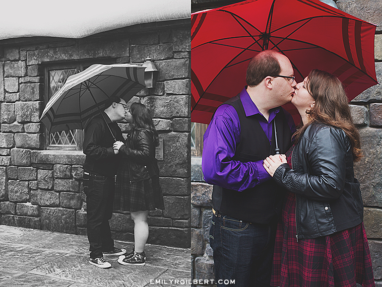 wizarding world of harry potter engagement photos - hogsmeade & diagon alley engagement photographer - emilyrgilbert.com